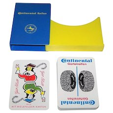 "Bielefelder ""Continental Tires"" Advertising Skat Playing Cards w/ ""Joker,""c.1950s"