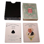 """The C.A. Edgarton Mfg. Co. """"President Suspender"""" Playing Cards, c.1904"""