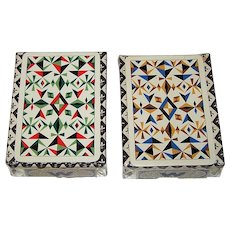 """Twin Decks Waddington's """"Siriol Clarry"""" Playing Cards, Siriol Clarry """"Four Elements"""" Designs, c.1964, $25/ea. separately"""