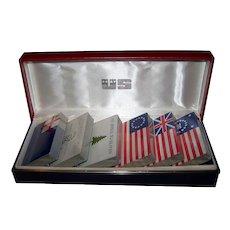 USPC Bicentennial Playing Cards, Historic Flags, 6 Decks, c.1976
