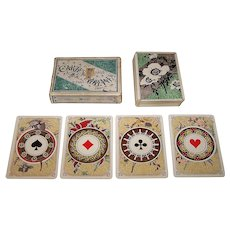"""Grimaud """"Cartes Indiennes"""" Playing Cards, c. 1890"""