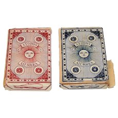 """Twin Decks Leonard Biermans, S.A. """"A Todos Alumbra"""" Playing Cards w/ Original Wrappers, c.1880, $75/ea. separately"""