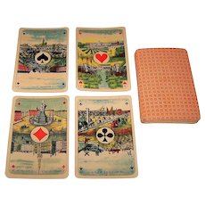 """Ets. Brepols S.A. """"Cartes Belges"""" Playing Cards, Scenic Aces, c.1880"""