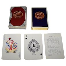 Twin Decks De la Rue Playing Cards, 125th Anniversary of Issuance of Royal Letters Patent, c.1957