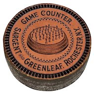 "Sargent and Greenleaf Antique ""Game Counter"" w/ Original Box, ""Hedgehog"" Type, c.1881"