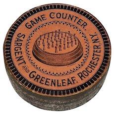 "Sargent and Greenleaf Antique ""Game Counter"" w/ Original Box, ""Hedgehog"" Type, c.1881"