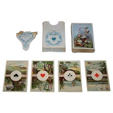 """Dondorf No. 27 """"Cartes pour Dames"""" aka """"Four Corners of the World"""" Patience Playing Cards, c.1868-1900"""