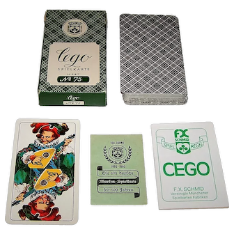 "F.X. Schmid ""Cego No. 75"" Tarock Playing Cards, 100 Year Anniversary Printing, c.1960"