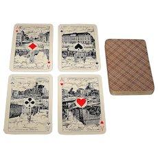 "Piatnik ""Rhineland Pattern"" Piquet Playing Cards w/ Scenic Dutch Aces, c.1930"