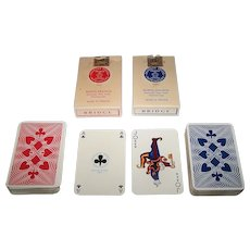 "Twin Decks Draeger Freres ""Classique"" Playing Cards, c.1950"