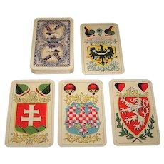 "Piatnik No. 73 ""Prazske Narodni"" Skat Playing Cards, Hoffman Designs, c.1920"