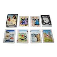 """Single Deck Editions Dusserre (Boechat Frères) """"Jeu des Costumes Bretons"""" Playing Cards, c.1987 )"""