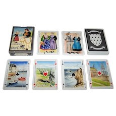 "Single Deck Editions Dusserre (Boechat Frères) ""Jeu des Costumes Bretons"" Playing Cards, c.1987 )"