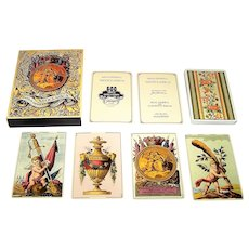 "Fournier ""Neoclasica"" Playing Cards, 600th Anniversary of Playing Cards in Europe, [Facsimile Edition of 1810 Deck ""Chivalry"" by Real Fabrica de Clemente Roxas], c.1977"