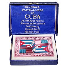 "Romo & Kredi ""Souvenir Playing Cards of Cuba,"" c.1930"