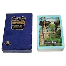 "Japan (?) ""Wisconsin Dells – Stand Rock"" Souvenir Playing Cards, Bennett Studios"