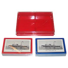 "Double Deck Brown & Bigelow ""Tug 'John Roen IV'"" Maritime Playing Cards, Roen Steamship Company, c.1947"