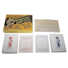 "H.P. Gibson & Sons, Ltd. ""Impertinent Questions"" Card Game, c.1920s"