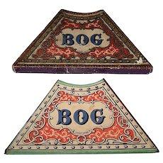 "Antique Coqueret ""Bog"" Game Board w/ Original Box, c.1875"