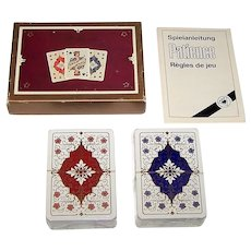 """Double Deck ASS """"Rebecca"""" Patience Playing Cards, [Dondorf """"Empire"""" Pattern], c.1982"""