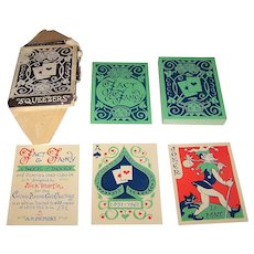 """Chicago Playing Card Collectors """"Fact & Fancy"""" Playing Cards, Limited Edition (372/600), Dick Martin Designs, c.1961"""
