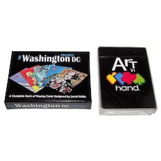 """Art in Hand """"Washington D.C. Project"""" Playing Cards, Various Artists"""