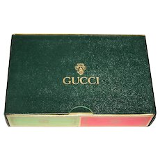 """Double Deck Modiano """"Gucci"""" Playing Cards, Custom """"Gucci"""" Box"""