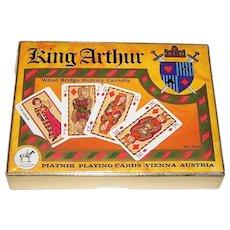 "Double Deck Piatnik ""King Arthur"" (aka ""Saga"") Playing Cards, Vera Kay (Atelier Korecky) Designs, c.1978"
