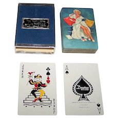 """Arrco """"Woman Writing Letter"""" Pin-Up Playing Cards, Edward D'Ancona Designs, c.1950"""