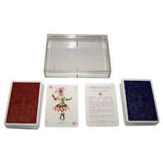 """Double Deck Grimaud """"Versailles"""" Playing Cards, Mlle. Matéja Designs, c.1969"""