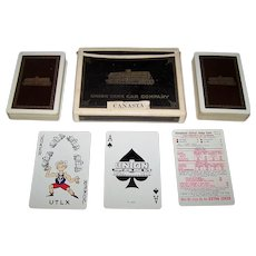 "Double Deck USPC ""Union Tank Car"" Canasta Playing Cards, c.1950"