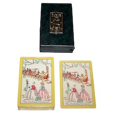 "Gibson ""Diana"" Playing Cards, ""The DeWitt Clinton,"" c.1929"