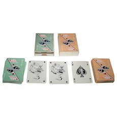 "Twin Decks Ets. Mesmaeker Freres ""Compagnie Générale Transatlantique"" Maritime Playing Cards, c.1950 ($40/ea. separately)"
