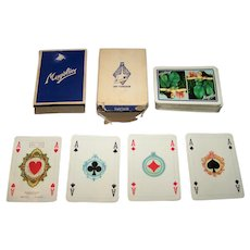 "Masenghini ""Costumi del XVII Secolo"" Playing Cards (52/52, NJ), ""Mugolio"" Advertising, c.1958"