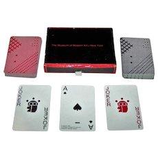 "Double Deck Piatnik ""Takenobu Igarashi"" Playing Cards, Museum of Modern Art Publisher, Takenobu Igarashi Designs, c. 1985"
