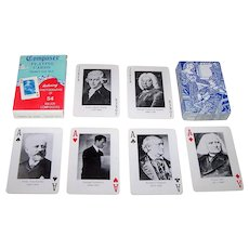 """Thurston Moore Country, Ltd. """"Composer"""" Playing Cards, Maker Unknown (Taiwan), c.1982"""
