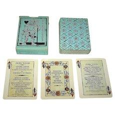 """Editions Dusserre (Boechat Freres) """"Jeu au Portrait D'Auvergne"""" Playing Cards, c.1980"""