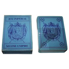 """Twin Decks Editions Dusserre (Boechat Frères) """"Jeu Imperial – Napoleon III"""" Playing Cards, c.1987 ($15/ea. separate)"""