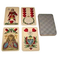 """VSSF """"Superfeine Schwerdter Karte"""" Skat Playing Cards, Saxon Pattern, c.1890s"""