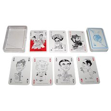 "ASS ""Polit-Poker"" Playing Cards, ""Bubec"" (Lutz Backes) Designs, 1984"