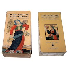 "Lo Scarabeo ""Ancient Tarots of Liguria-Piedmont"" Tarot Cards, c.1995"