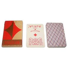 """Russia State Printing Works """"Atlassian"""" Playing Cards, 36-Card Deck, c. 1980s"""
