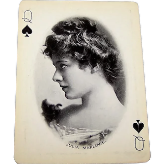 "USPC ""Craddocks Blue Soap"" Stage Stars Playing Cards, c.1895"