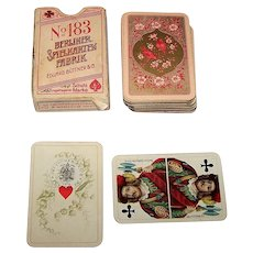 "Berliner Spielkartenfabrik Eduard Büttner & Co. ""Clubkarte No. 183"" Patience Playing Cards, North German Pattern, c.1895"