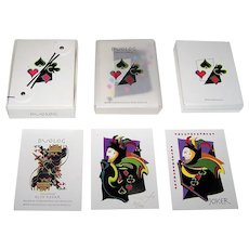 "ColorGraphics ""Duolog"" Playing Cards, Kedar Designs Publ., Ruth Kedar Designs, Ltd. Ed. 72/200, c.1996"
