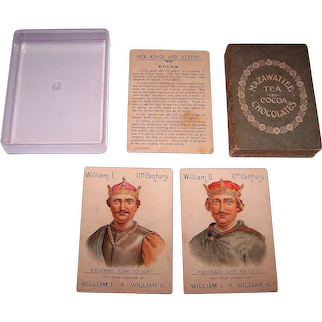 "Mazawattee Tea Co. ""Our Kings and Queens"" Card Game, c.1901"