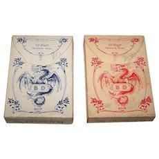 "Twin Decks Dondorf No. 133, ""Club Kartes"" aka ""Cartes du Beau Monde"" Playing Cards, c. 1910 ($75/ea. separately)"