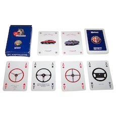 "Modiano ""Alfa Romeo"" Playing Cards, Alfa 164 Spider, c.1990"