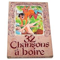 """Grimaud """"Chansons à Boire"""" (""""Drinking Songs""""), Risqué Cards of Amusement, James Hodges Designs, c.1975"""