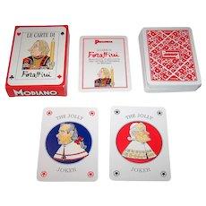 "Single Deck Modiano ""Panorama"" Playing Cards, Guido Forattini Designs, c.1993/4"